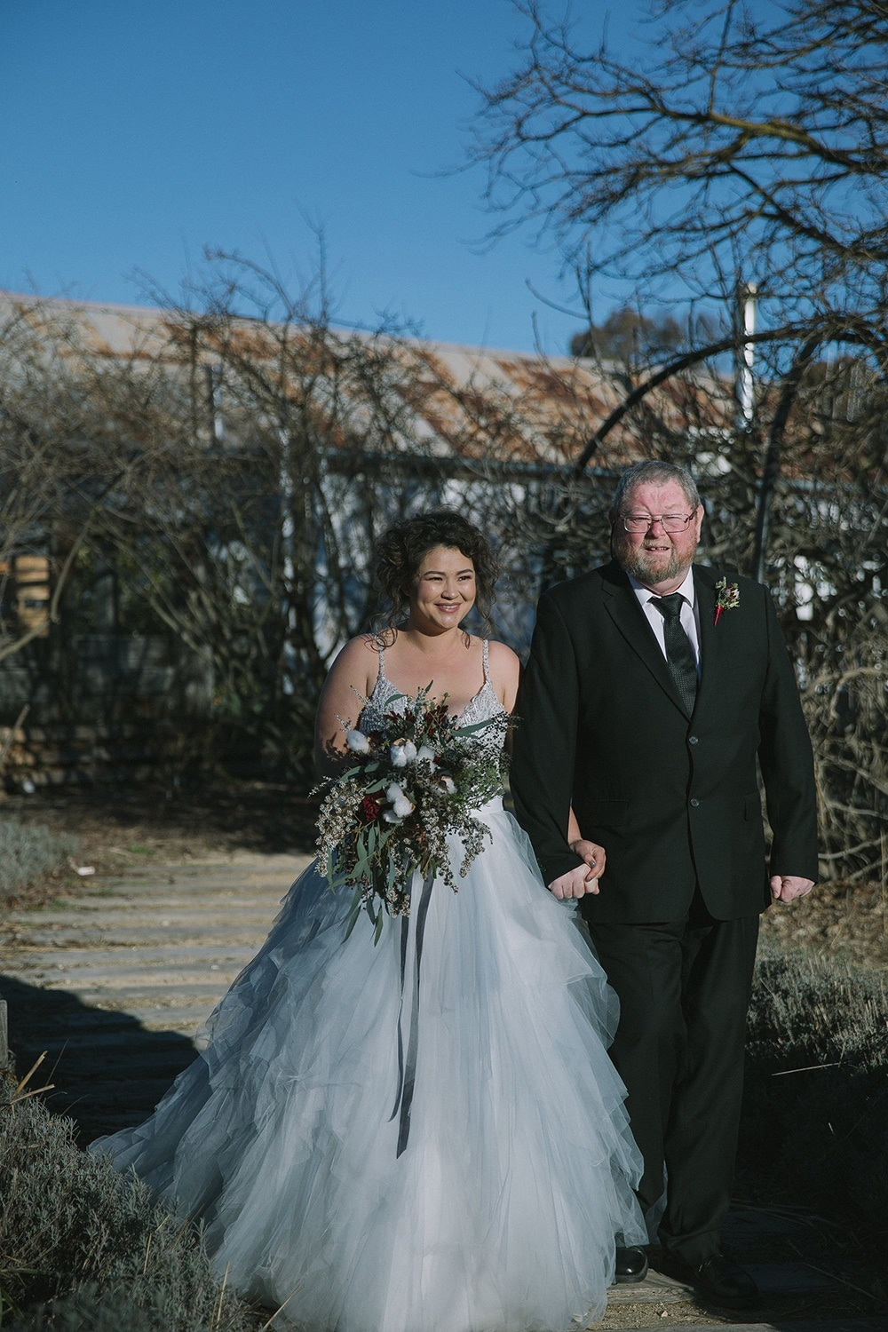 Beautiful Bride Charissa with her father